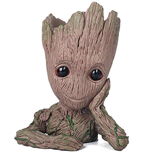 Baby Groot Pot - Wonderful Action Figure from Guardians of The Galaxy for Plants and Pens - Perfect as a Gift - I'm Groot (A)