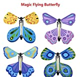 Hotoy MALS 4 x Fluttering Flying Butterfly, Surprise Your friends When they open thier Cards