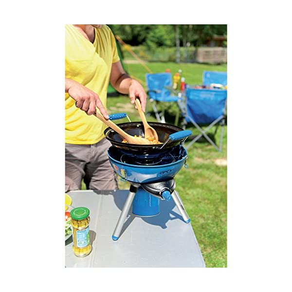 Campingaz Party Grill 400 Camping Stove, All in One portable Camping BBQ, Outdoor Grill & Stove, Small Gas Barbecue 2.000 Watt, Runs on CV 470 Plus Gas Cartridge 5