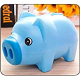 HongXander Cute Plastic Piggy Bank Cash Coin Storage Boxes For Children Toy Kids Gift (Blue)