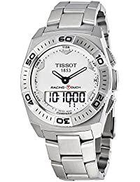 Tissot Men's 45mm Steel Bracelet & Case Swiss Quartz Silver-Tone Dial Watch T002.520.11.031.00