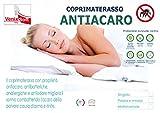 venixsoft Coprimaterasso Elasticizzato con Trattamento antiacaro Singolo 80-85 - 90...