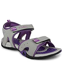 FUEL Women's Fashionable Latest Summer Collection Velcro Closure Casual Sandals & Floaters for Girls