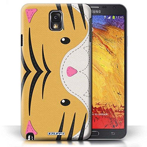 Coque en plastique pour Samsung Galaxy Note 3 Collection Cousu des Animaux Effet - Chien Tigre