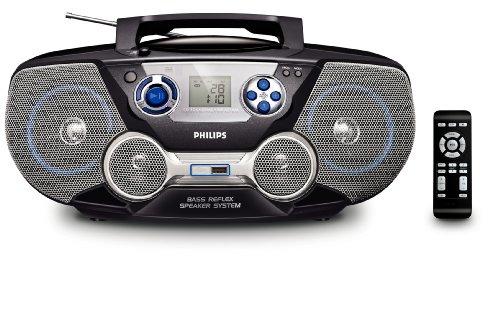 Philips AZ 1826 MP3-CD-Player mit Radio schwarz (Philips Cd-recorder)