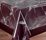 Beautex Transparente Folie bedruckt MOTIV und Größe wählbar, Tischdecke Tischschutz Rund Oval Eckig (Ranke weiß Eckig 140x180 cm) - 3