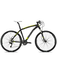 "Torpado bicicleta MTB saturn alu 27,5 x 7"" 3 V disco negro talla 41 amarillo (MTB amortizados)/bicycle MTB saturn 27,5 x 7"" 3 alu S disc size 41 yellow (black MTB Front suspension)"