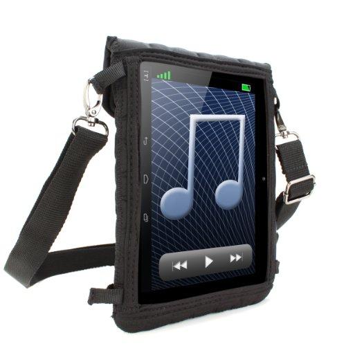 USA Gear Schutzhülle für 7 Zoll Tablets, Umhängetasche mit Touch-Funktion aus Neopren, Schwarz (Tablet-schutzhülle Usa Gear)