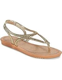 Grendha Glamour Thong Womens Flip Flops / sandfarbeale - Gold Leopard - SIZE EU 40