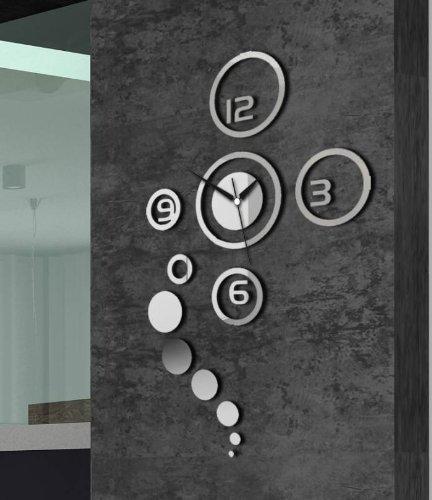 Preisvergleich Produktbild Moderne Wanduhr Design Wandtattoo Dekoration Uhren NEU Spiegel Geschenk