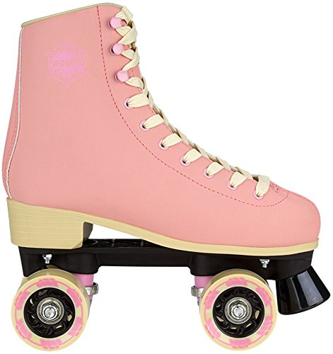 Nijdam 52ro Eye Candy Retro Rollschuhe, unisex, 52RO, Light Pink/Beige (Abec 7 Bike Bearing)
