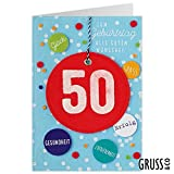 Grußkarte Filz - Zum 50. Geburtstag - Geburtstagskarte - 04