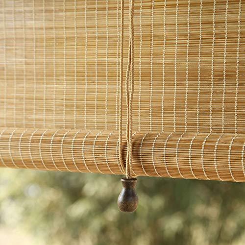 Contenido del paquete: 1 × persianas enrollables de bambú (que incluyen: persianas enrollables, guías, accesorios de montaje) Material del producto: bambú de alta calidad. Tasa de sombreado: alrededor del 75% Tamaño: por encima del tamaño de la panta...