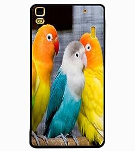 ColourCraft Love Birds Design Back Case Cover for LENOVO A7000 PLUS