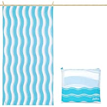 Toalla De Microfibra para Playa Diseño Ondas - Azul XXL 200