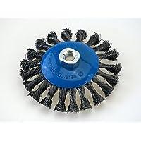 3 Kegelbürsten Ø 125 mm – gezopfte Schleifbürste – M14 x 2 Drahtbürste / Kegelbürste / Drahtbürste