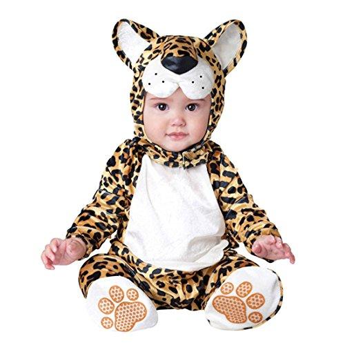 YYF Baby Jungen Mädchen Kleinkinder Animal Kostüm Halloween Party Jumpsuit Winter Strampler Leopard (Leopard Kostüm Herren)