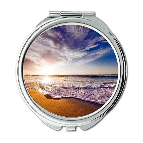 Yanteng Spiegel, Taschenspiegel, Strand schöne Wolken, Taschenspiegel, tragbarer Spiegel