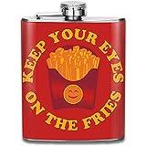 Behalten Sie Ihre Augen auf den Pommes im Freien Tragbarer auslaufsicherer Alkohol-Whisky-Alkohol-Wein des Edelstahl-304 7Oz Topf-Flachmann-Spielraum-kampierender Flagon