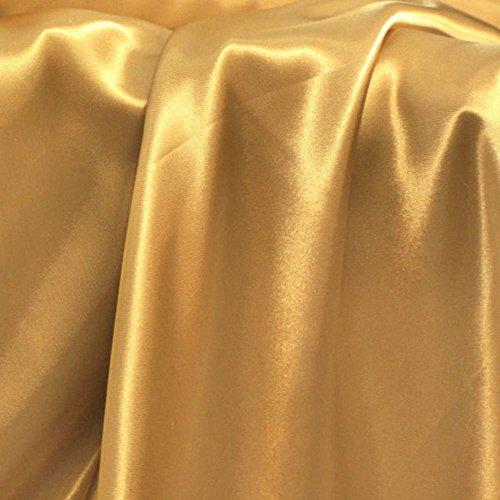 Glanz SATIN Modestoff/Deko-Stoff/Kostümstoff als Meterware am Stück (Gold)