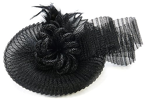 Lovely Lauri Burlesque Fascinator mit Federn schwarz