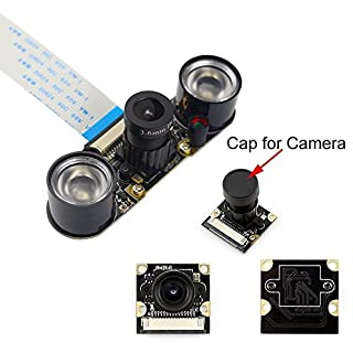 Longruner Camera Module for Raspberry PI 5MP 1080p OV5647 Sensor HD Video Webcam Supports Night Vision For Raspberry Pi 3 model B B+ A+ RPi 2 1 Camera LSC15