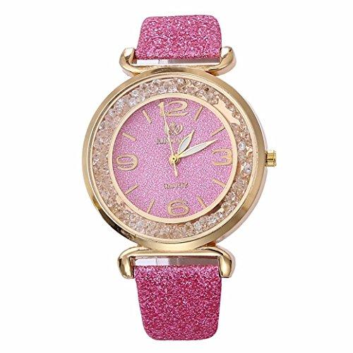 Ouneed® Uhren , Luxus Bling Damen Uhren Strass Keramik Kristall QuarzuhrenKleid Uhr (Pink)