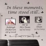 "Amazing Sticker Wandtattoo, Motiv englischsprachiges Zitat ""In These Moments Time Stood Still"", schwarz, XL"