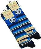 3 oder 6 Paar Kinder Kniestrümpfe mit Fußball Motiven, Baumwolle (ÖKO-Tex Standard 100 zertifiziert)