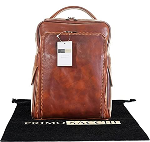 Luxury Italian Leather Hand Made Ladies Classic Style Tan Back Pack Rucksack Briefcase Shoulder Bag. Includes Branded Protective Storage Bag