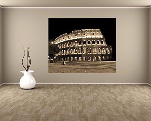 bilderdepot24-papier-peint-intisse-colosseum-at-night-vert-sephia-80x65-cm-pate-inclus-vente-directe