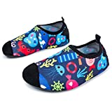 L-RUN Unisex Quick-Dry Wassersport Aqua Swim Barfußschuhe für Kleine Kinder Sea World