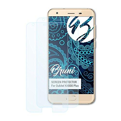 Bruni Schutzfolie kompatibel mit Oukitel K4000 Plus Folie, glasklare Bildschirmschutzfolie (2X)
