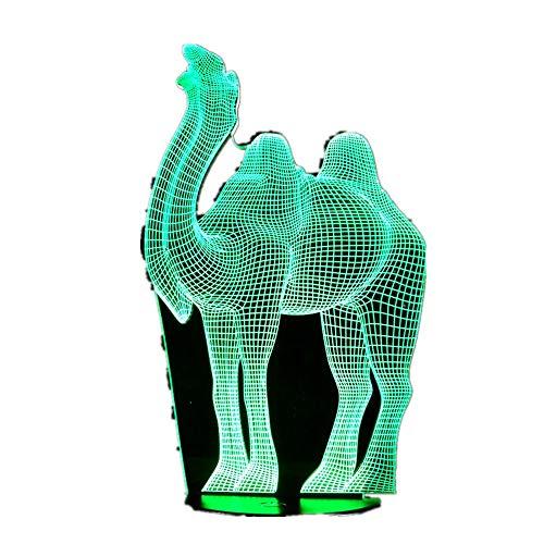 wangZJ Lámpara de ilusión 3d / luces/juguetes para dormir Regalos de cumpleaños / 7 colores/luces de noche/día de san valentín/luces de noche/camellos