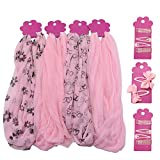 COM-FOUR® 42-teiliges Kinder Haarschmuck Set in rosa