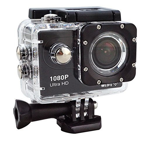 Action Camera Wifi Waterproof Camera Sport Camcorders 1080P ultra HD Cam 140 Degree diverse Angle Lens actions Camera having 2.0'' LCD filter 30M UnderWater and 18 mounting extras set up (Black) UK