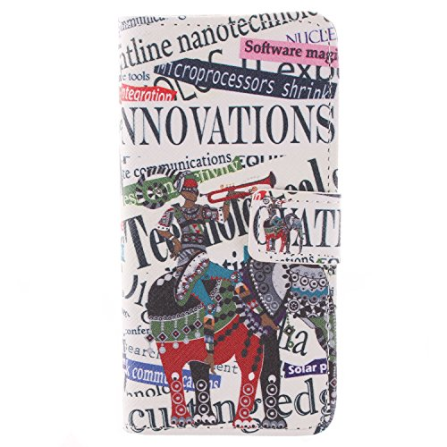 """MOONCASE iPhone 6 Plus Case Dessin Coloré Coque en Cuir Haute Qualité Portefeuille Housse de Protection Étui à rabat Case pour iPhone 6 Plus (5.5"""") -LK22 ST15"""