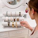 TecTake-Expositor-exhibidor-soporte-para-joyas-organizador-reloj-brazalete-collar-disponible-en-diferentes-colores