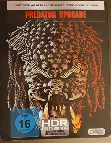 Predator Upgrade 4K Steelbook, Blu-ray, The Predator 4K Steelbook, OOP, Uncut, Regionfree, Saturn und Media Markt exklusiv, Rar Blu-ray-upgrade