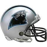 Riddell - Réplica a tamaño real de casco de los Carolina Panthers