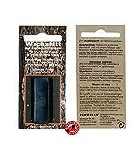 Wachskitt Stange Teak 7g von Bindulin - schwarz- schwarzfarbenes Kitt zur Ausbesserung von Holz Möbel Kunststoff- Möbelwachs auf Bienenwachsbasis für Löcher Kratzer Fehler, Farbe: black 7 Gramm