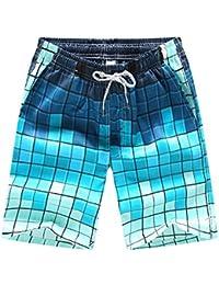 BANFEI Hombre Mujer Bañador de Natación Profesional Pantalones Largos Playa Swimwear Secado Rápido EU XS Azul(línea azul)