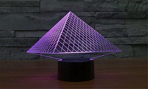 SmartEra® 7 Farben ändern 3D optische Täuschung USB Powered ägyptischen Pyramiden touch-Tasten Stimmungs Lampen Beleuchtung Gadget Schreibtischlampe Usb-powered Gadgets