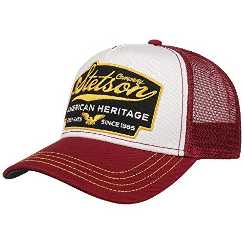 Stetson American Heritage Trucker Cap Basecap Baseballcap Meshcap Snapback Truckercap Baseballcap Meshcap (One Size - bordeaux)