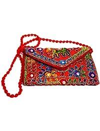 Rajasthani Handicraft Embroidered Clutch Sling Bag Clutch Bag - B07F1RGBBC