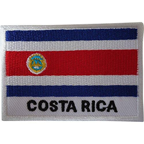 Costa Rica Bandera Parche hierro coser ropa