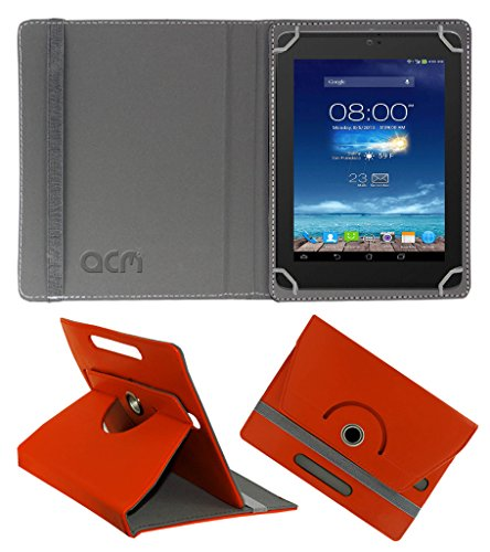 Acm Rotating 360° Leather Flip Case for Digiflip Pro Xt801 Cover Stand Orange  available at amazon for Rs.159