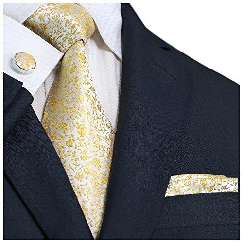 atten Set Gr. Small, YELLOW (49W YELLOW WHITE) (Skinny White Tie)