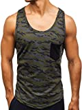 BOLF Herren Tank Top T-Shirt Muskelshirt Achselshirt mit Aufdruck Camo Army Motiv Sport Style Madmext 2272A Mehrfarbig M [3C3]