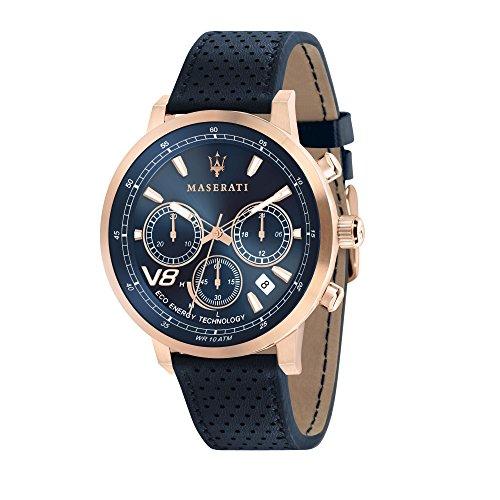 MASERATI Reloj Cronógrafo para Hombre de Cuarzo con Correa en Cuero R8871134003